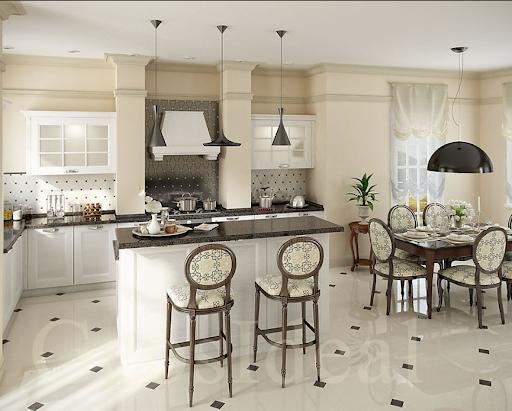 Кухня в американському стилі з барною стійкою