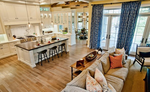Американский дизайн интерьера квартиры-студии