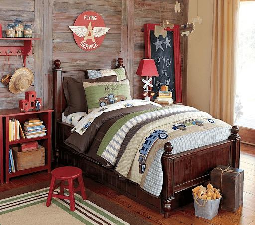 Американская мягкая мебель для детской комнаты с яркими акцентами