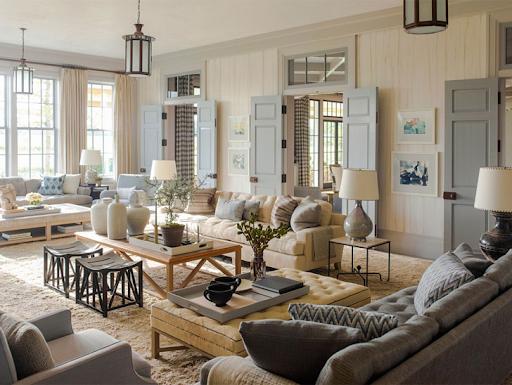 М'які меблі в американському стилі інтер'єру
