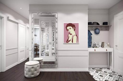 Приклад використання яскравої картини в американському стилі дизайну