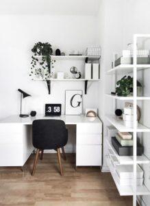 Черно-белый цвет мебели